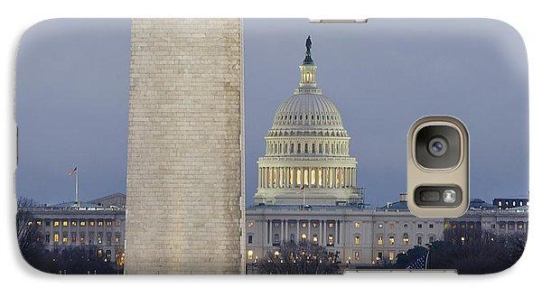 Washington Monument And United States Capitol Buildings - Washington Dc Galaxy S7 Case