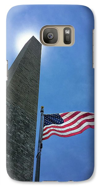 Washington Monument Galaxy S7 Case by Andrew Soundarajan