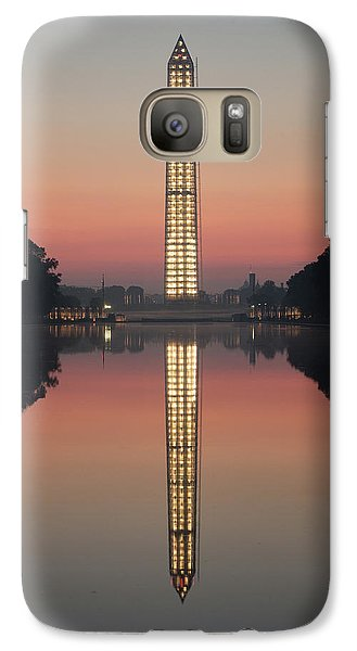 Washington Monument At Dawn Galaxy S7 Case