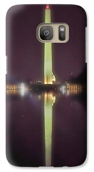 Galaxy Case featuring the photograph Washington Monument by Lorella Schoales