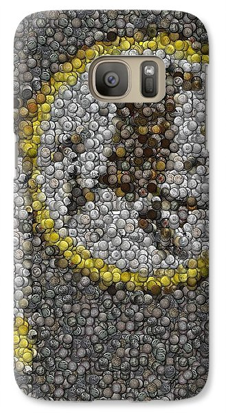 Galaxy Case featuring the mixed media Washington Redskins Coins Mosaic by Paul Van Scott