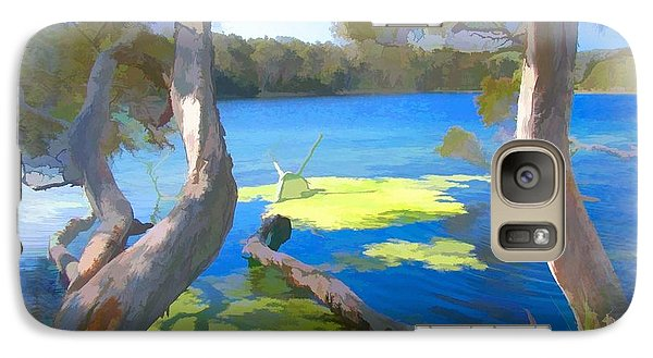 Galaxy Case featuring the photograph Wat-0002 Avoca Estuary by Digital Oil