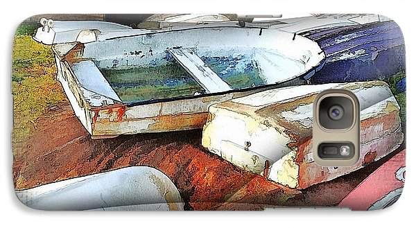 Galaxy Case featuring the photograph Wat-0012 Tender Boats by Digital Oil