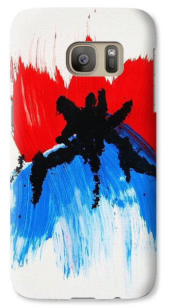 Galaxy Case featuring the painting Watashi No Hi O by Roberto Prusso