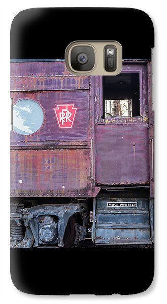 Galaxy Case featuring the photograph Watch Your Step Vintage Railroad Car by Terry DeLuco