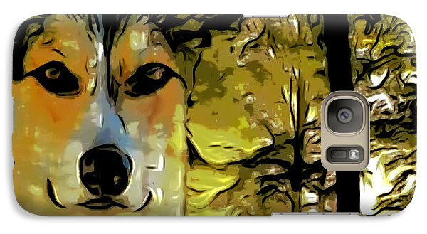 Galaxy Case featuring the digital art Watcher Of The Woods by Kathy Kelly