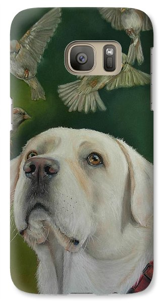Galaxy Case featuring the painting Watching Birds by Ceci Watson