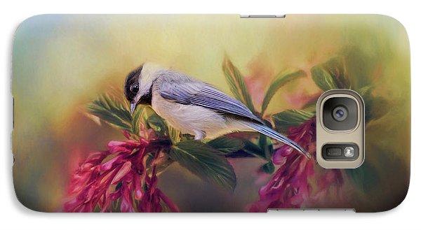 Watching Flowers Bloom Bird Art Galaxy S7 Case