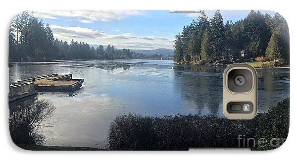 Galaxy Case featuring the photograph Watching The Ice Melt by Victor K