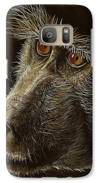 Galaxy Case featuring the drawing Watching You by Heidi Kriel