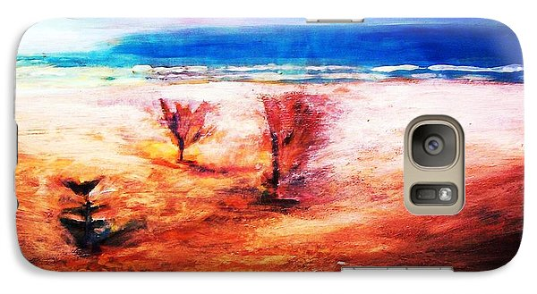 Galaxy S7 Case featuring the painting Water And Earth by Winsome Gunning