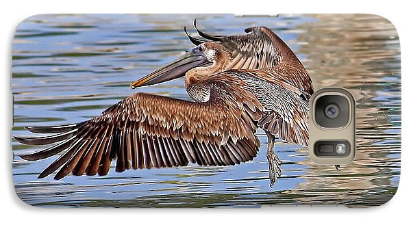 Galaxy Case featuring the photograph Water Ballet - Brown Pelican by HH Photography of Florida