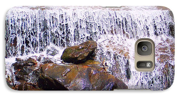 Galaxy Case featuring the photograph Water Cascade by Roberta Byram