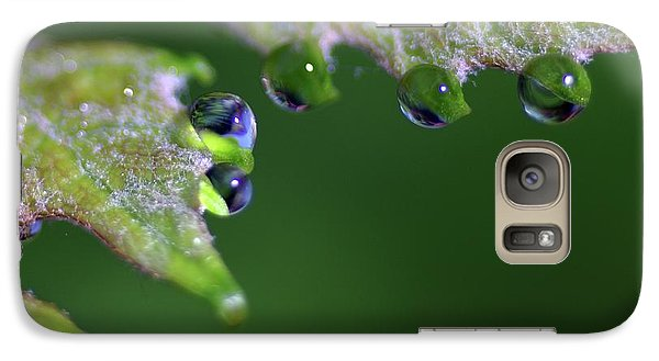 Galaxy Case featuring the photograph Water Droplet IIi by Richard Rizzo