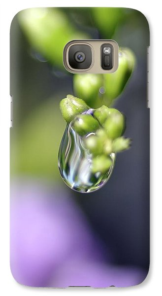 Galaxy Case featuring the photograph Water Droplet Iv by Richard Rizzo