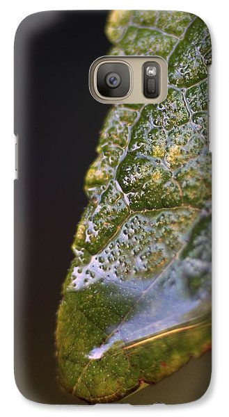 Galaxy Case featuring the photograph Water Droplet V by Richard Rizzo