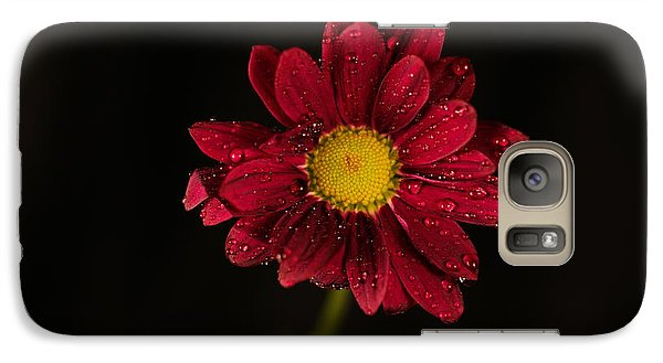 Galaxy Case featuring the photograph Water Drops On A Flower by Jeff Swan