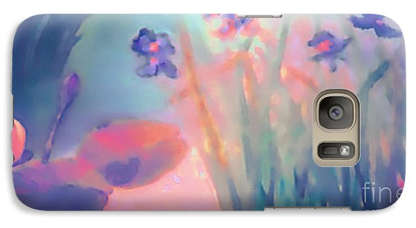 Galaxy Case featuring the painting Water Iris by Holly Martinson