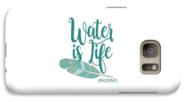 Galaxy Case featuring the digital art Water Is Life Nodapl by Heidi Hermes