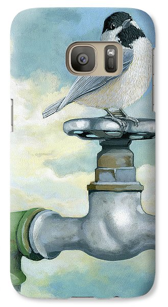 Galaxy Case featuring the painting Water Is Life - Realistic Painting by Linda Apple
