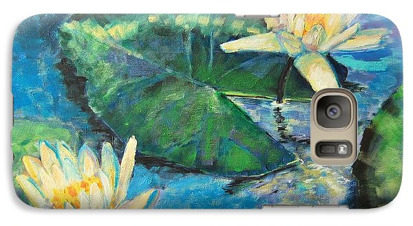 Galaxy Case featuring the painting Water Lilies by Ana Maria Edulescu