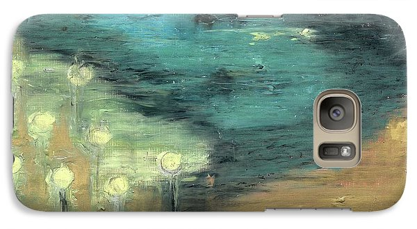 Galaxy Case featuring the painting Water Lilies At The Pond by Michal Mitak Mahgerefteh