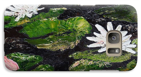 Galaxy Case featuring the painting Water Lilies I by Marilyn Zalatan
