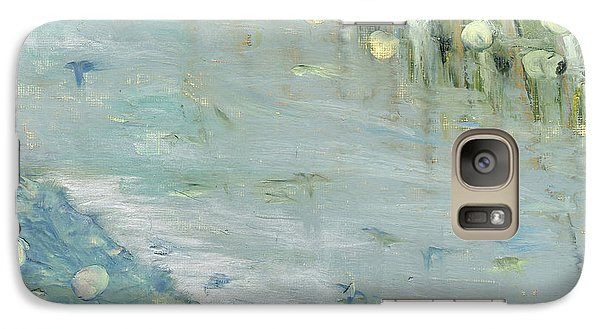 Galaxy Case featuring the painting Water Lilies by Michal Mitak Mahgerefteh
