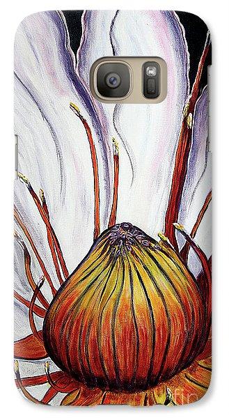 Galaxy Case featuring the painting Water Lilly  by Jolanta Anna Karolska