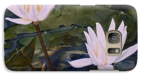 Galaxy Case featuring the painting Water Lily At Longwood Gardens by Laurie Rohner