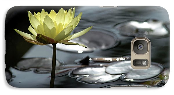 Water Lily And Silver Leaves Galaxy S7 Case