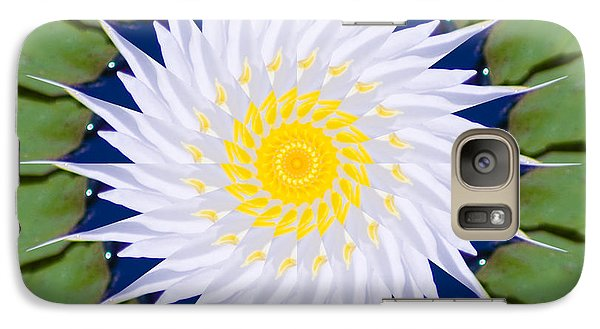 Galaxy S7 Case featuring the photograph Water Lily Kaleidoscope by Bill Barber
