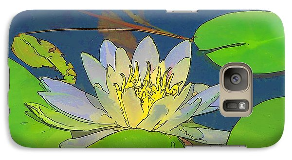 Galaxy Case featuring the digital art Water Lily by Maciek Froncisz