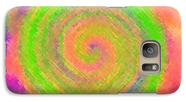 Galaxy Case featuring the digital art Water Melon Whirls by Catherine Lott