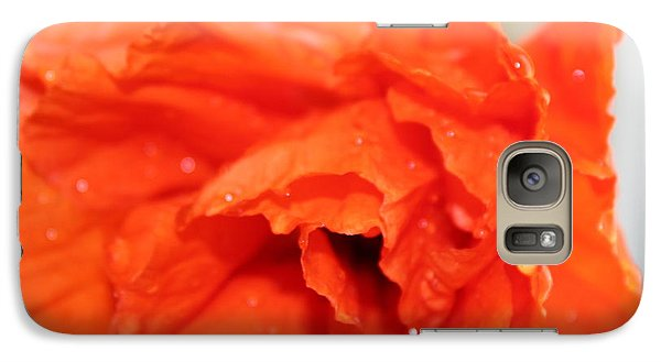 Galaxy Case featuring the photograph Water On Orange by Christin Brodie