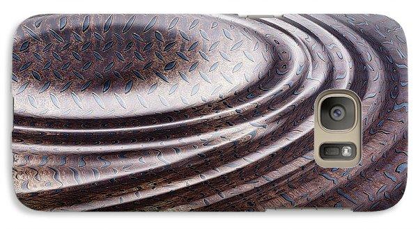 Galaxy Case featuring the digital art Water Ripple On Rusty Steel Plate  by Michal Boubin