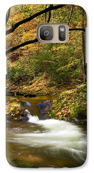 Galaxy Case featuring the photograph Water Swirl by Bob Decker