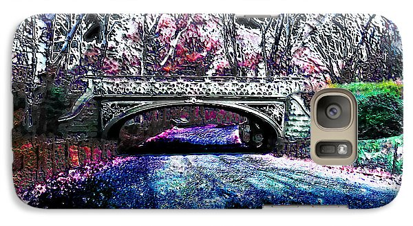 Galaxy Case featuring the photograph Water Under The Bridge by Iowan Stone-Flowers