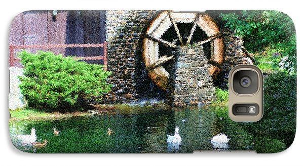 Galaxy Case featuring the painting Water Wheel Duck Pond by Smilin Eyes  Treasures