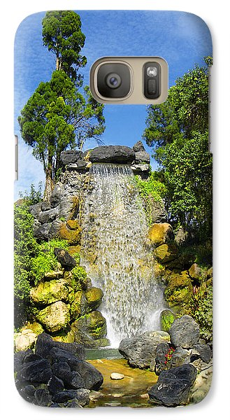 Galaxy Case featuring the photograph Water Works by Barbara Middleton