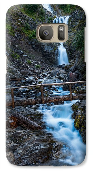 Galaxy Case featuring the photograph Waterall And Bridge by Chris McKenna