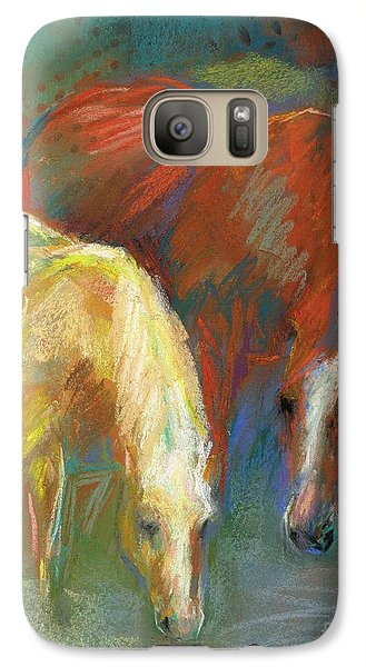 Galaxy Case featuring the painting Waterbreak by Frances Marino