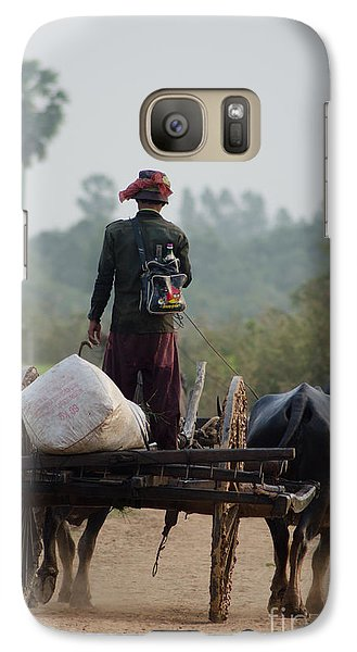Galaxy Case featuring the photograph Waterbuffalo Driver With Angry Birds Tote Bag by Jason Rosette