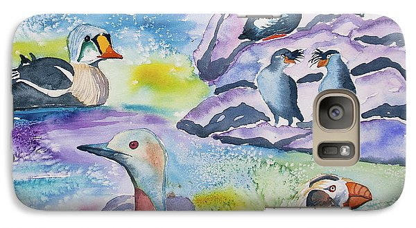 Watercolor - Alaska Seabird Gathering Galaxy S7 Case