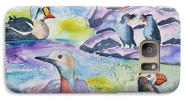 Watercolor - Alaska Seabird Gathering Galaxy S7 Case