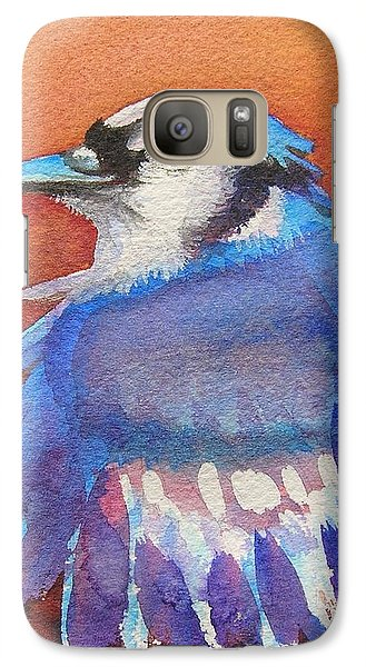 Galaxy Case featuring the painting Watercolor Blue Jay by Patricia Piffath
