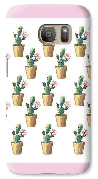 Watercolor Cactus Galaxy Case by Roam  Images