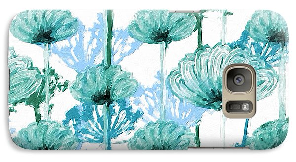 Galaxy Case featuring the digital art Watercolor Dandelions by Bonnie Bruno