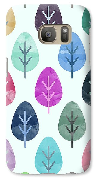 Watercolor Forest Pattern  Galaxy Case by Amir Faysal