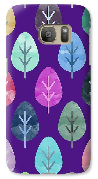 Watercolor Forest Pattern II Galaxy S7 Case by Amir Faysal